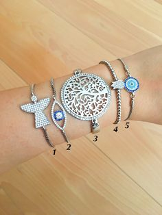 Silver bracelet, evil eye bracelet, tree of life bracelet, tulip bracelet, turkish evil eye, silver evil eye, angel bracelet, bead bracelet #jewelry #bracelet #treeoflifejewelry #tulipbracelet #nazarbracelet #beadedevileye #silverbracelet #silverevileye