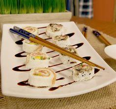 Sushi de Tapioca de Cogumelos