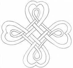 CloverFree printable coloring clovers | Your Celtic Four Leaf Clover is now ready to be drawn in ink and ...
