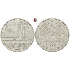 Bundesrepublik Deutschland, 10 Euro 2011, Hamburger Elbtunnel, J, 10,0 g fein, PP: 10 Euro 2011 J. Hamburger Elbtunnel. Polierte… #coins