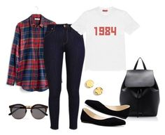 """""""Untitled #33"""" by le-crow on Polyvore featuring Madewell, Kenneth Cole, Gosha Rubchinskiy, Mansur Gavriel, Nine West and Illesteva"""