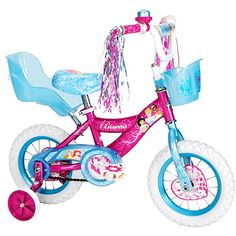 My BFF got this for her little girl for her birthday. We were already planning to get a bike for Ry this year. and when I saw this I knew it was the one. Toddler Girl Gifts, Baby Girl Toys, Baby Dolls, Toy Cars For Kids, Toys For Girls, Kids Toys, Little Girls Bike, Bb Reborn, Disney Princess Toys