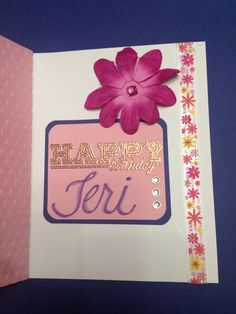 Greeting inside the b-day card