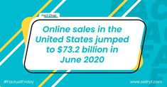 E-commerce continues to pave the way for the new future.  #factualfriday #factoftheday #facts  #amazonprimeday #amazonprimeday2020 #amazonprimedaydeals #amazonsellers #amazon #amazonfba #amazondeals #ecommercebusiness #ecommercemarketing Amazon Prime Day Deals, Fact Of The Day, Amazon Seller, E Commerce Business, Amazon Fba, Online Sales, Ecommerce, Success, Facts
