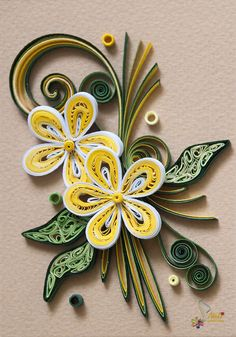 Neli Quilling Art: Quilling cards-flowers