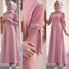 Hijab styles 🌹¸. Hijab Dress Party, Hijab Style Dress, Abaya Fashion, Modest Fashion, Fashion Dresses, Girl Fashion, Moslem Fashion, Sleeves Designs For Dresses, Modele Hijab