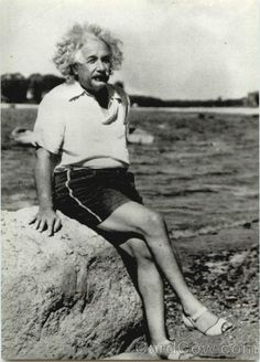 @Einstein at the beach