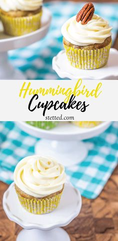 Hummingbird cupcakes are a classic Southern dessert. Filled with fruit and nuts, these party-ready cupcakes will make everyone hum with excitement!