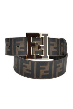 """""""With your safety belt on / Revealing nothing of yourself / Let the feelings rule your reactions today"""" - SUBCIRCUS - (Fendi Brown Zucca College Belt) Wide Leather Belt, Leather Belts, Leather Men, Mens Designer Watches, Designer Belts, Designer Clothing, Fendi Belt, Versace Belt, Luxury Belts"""