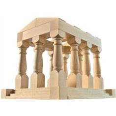 More beautiful blocks.  I imagine these coming in during the the ancient Greece unit.  Again, very expense ($40.49).  Maybe a wood-working relative could make some for less.