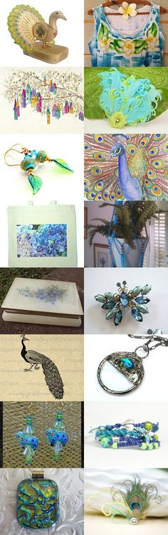 Pretty as a Peacock by Laurie and Joe Dietrich on Etsy--Pinned with TreasuryPin.com