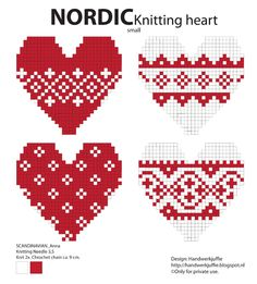 Knitting Charts Heart Cross Stitch 20 New Ideas Hama Beads Design, Hama Beads Patterns, Beading Patterns, Embroidery Patterns, Knitting Charts, Knitting Stitches, Knitting Patterns, Free Knitting, Hama Beads Christmas