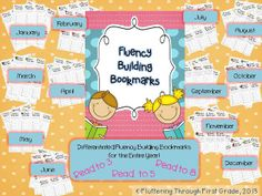 Fluency Building Bookmarks