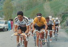 #LaVuelta de 1990 con Indurain, Giovanetti y Delgado jugándose en plena tensión. cc