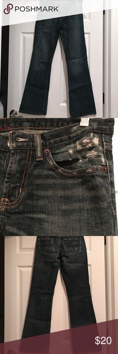 Express X2 Denim Laboratory Good Condition. Size 0. 30inch length Express Jeans Boot Cut