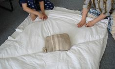 Calenndula: měkké poležení aneb deka a matrace z ovčí vlny - tutorial