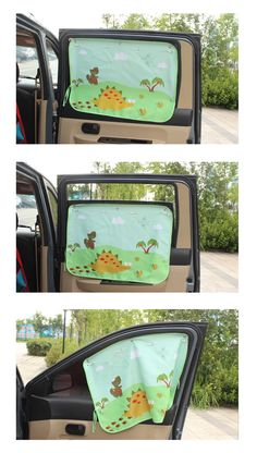 $29.00 Baby Car Window Shade (White) - PORTABLE ADJUSTABLE CURTAIN ...