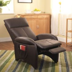 Gentil New Brown Leather Lazy Boy Recliner Chair Accent Living Furniture Room Home  Sofa