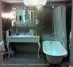 Hollywood Silver Screen Starlet Bathroom | The Decorating Diva, LLC