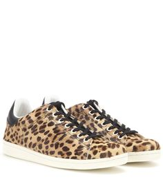 Isabel Marant - Étoile Bart calf hair sneakers - The retro sneaker is having a serious moment and we love Isabel Marant Étoile's edgy update to the 'Bart'. The classic style in leopard-print calf hair features a black leather tab at the back, stamped with the brand's logo. Wear these with cropped denim or easy day dresses. seen @ www.mytheresa.com