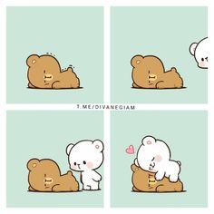 Cute Cartoon Pictures, Cute Love Pictures, Cuddling Gif, Cute Bear Drawings, Chibi Cat, Cute Sketches, Cute Panda Wallpaper, Cute Love Stories, Cute Love Gif