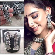 Pakistani Jewelry, Bollywood Jewelry, Silver Jewellery Indian, Indian Earrings, Silver Jewelry, Etsy Jewelry, Hair Jewelry, Handmade Jewelry, Fashion Jewelry