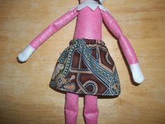 Christmas Elf doll skirt brown and blue by on Etsy Christmas Elf Doll, Dolls, Brown, Skirts, Pattern, Blue, Etsy, Clothes, Fashion