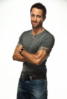 Alex O'Loughlin.  If you've never watched Hawaii 5-0 here's a good reason to start:)