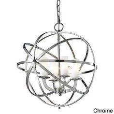 Aranya 4-light Orbit Pendant (Silver), Grey, Avery Home Lighting (Metal)