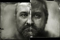Kal Khogali photo of David Quinn. This was made by 2 4X5 CG bright ambrotypes scanned as negatives.