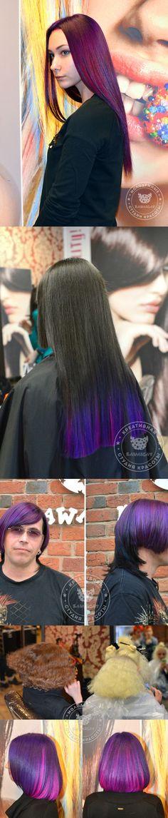 Подборка фото фиолетовые волосы, стрижки, окрашивание. Все что мы так любим делать! violet hair hairdresser anthocyanin Kawaicat