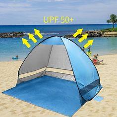 Beach Tent Folding Shade Canopy Outdoor Sun Shelter Camping Fishing Portable New #BeachTentFoldingShade #Beach