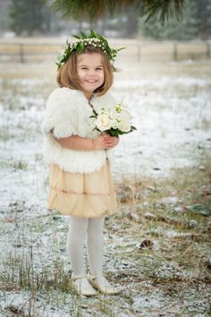 c2cbd409a 43 Best Winter Flower Girl images | Engagement, Bride groom dress ...