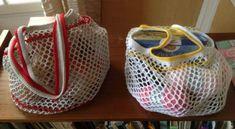 Le phillé, un sac de course coloré en crochet