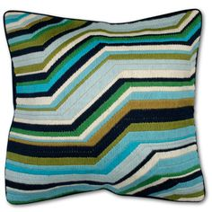 #JonathanAdler #bargello. This pattern would be particularly easy to knock off with spare bits of yarn. $145