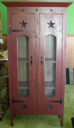 """Double Homesteader $374.99 Approximate size 66""""H x 34""""W x 12""""D Like our Facebook page! https://www.facebook.com/pages/Rustic-Farmhouse-Decor/636679889706127"""