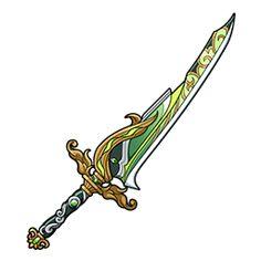 Sword Design, Toy 2, Weapon Concept Art, Fantasy Weapons, Sword Art Online, Swords, Jade, Landscapes, Hardware