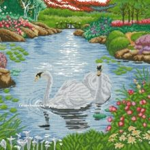 Gallery.ru / Все альбомы пользователя denise10 Cross Stitch Flowers, Cross Stitch Patterns, Cross Stitch Landscape, Bird, Outdoor Decor, Home Decor, Christmas, Scenery, Dots