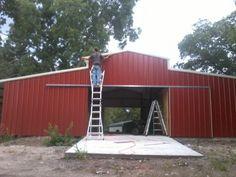 Biffels barns and buildings - Barn Construction Contractor in Springtown, Texas Springtown Texas, Horse Barn Designs, Horse Shelter, Construction Contractors, Barns, Buildings, Garage Doors, Future, Outdoor Decor