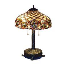 Serena D'italia Tiffany Baroque 25 in. Bronze Table Lamp-16099 - The Home Depot