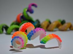 Tentacoil Tentacles - Dreadlock tentacle bead. available in the HeartFelt Spiral online store https://www.etsy.com/uk/listing/492691235/rainbow-uv-artful-dreads-tentacoil