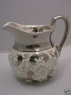 Wedgwood England Silver Luster Ware Octagonal Pitcher | eBay