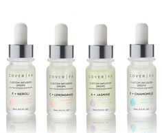COMING SOON! NEW Cover FX Custom Infusion Drops! In Jasmine, Lemongrass, Chamomile, and Neroli! You will be able to add these to boost your skincare routine, from the experts in custom coverage and flawless foundnation that's great for your skin! Face Wash For Men, Acne Face Wash, Beauty Routines, Skincare Routine, Skin Routine, Minimal Makeup, Cover Fx, Moisturizer For Dry Skin, Cruelty Free Makeup