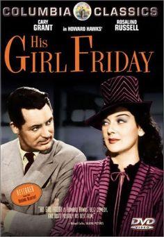 Filme: Jejum de Amor - His Girl Friday - Cary Grant e Rosalind Russell Cary Grant, Rosalind Russell, Jane Russell, Old Movies, Vintage Movies, 1940s Movies, Love Movie, Movie Tv, Movie List