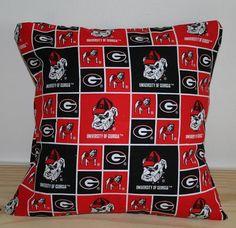 Georgia Bulldogs pillow by Myfriendcaroline on Etsy, $8.50