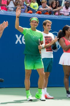 Rafael Nadal Attends 2015 US Open Kids Day [PHOTOS]  LOVE THE GREEN!!!