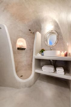 A Comprehensive Overview on Home Decoration - Modern Santorini House, Oia Santorini, Santorini Island, Girl Cave, Woman Cave, House Outside Design, House Design, Design Design, Furniture Design