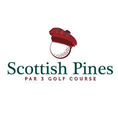 Logo Design for Scottish Pines 3 Par Golf Course.