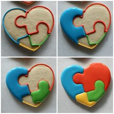 The Cookie Puzzle: Puzzle Hearts - Guest Post by The Sweet Adventures of Sugarbelle