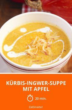 Kürbis-Ingwer-Suppe mit Apfel - Fruchtig-herzhaft-lecker!